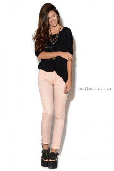 pantalon rosado Viga Jeans verano 2016