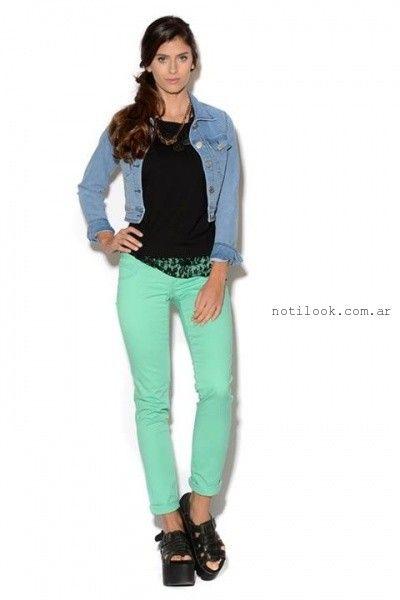 pantalones de colores Viga Jeans verano 2016