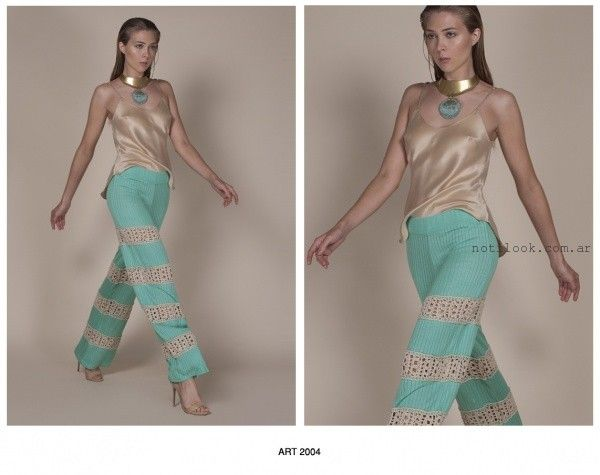 pantalones tejidos Agostina Bianchi verano 2016