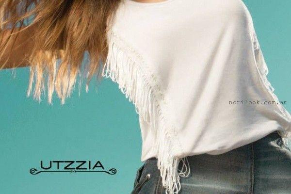 remeras informales con flecos verano 2016 Utzzia