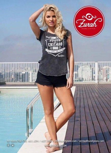 remeras informales juvenies con impresiones verano 2016 Zurah Jeans