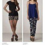 Cuesta Azul, remera y pantalones estampados verano 2016