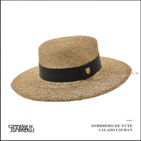 sombrero de yute Compañia de Sombreros verano 2016