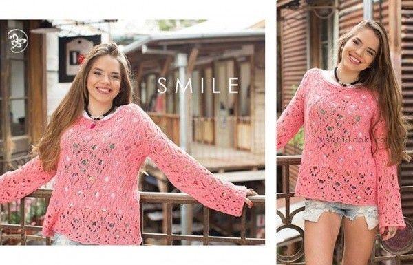 sweater tejido a crochet  Doll fins verano 2016