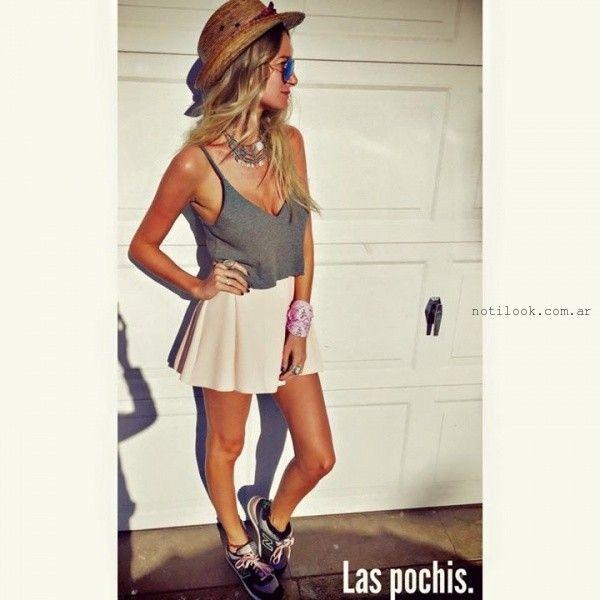 top con minifalda verano 2016 Las Pochis