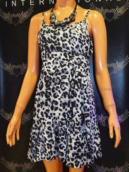 vestido animal print de  dia Afixis verano 2016