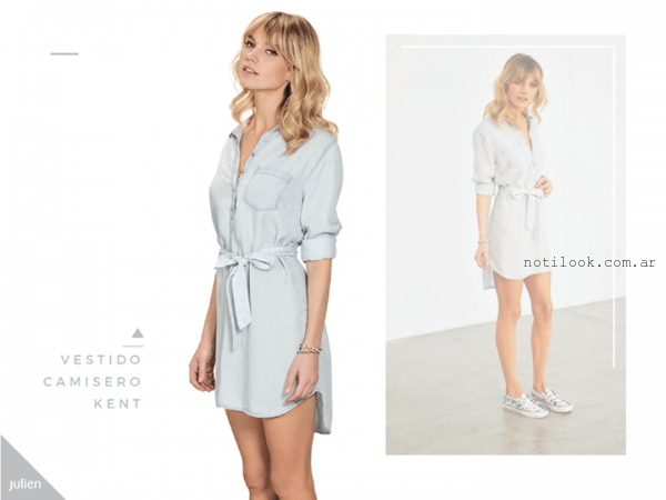vestido camisero denim Julien verano 2016