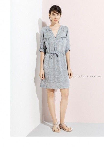vestido corto de algodon verano 2016 graciela naum