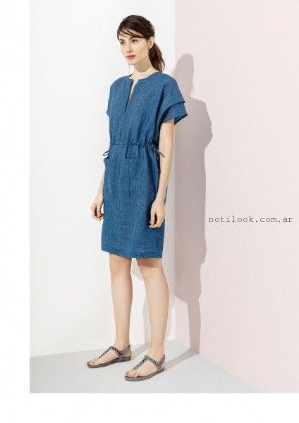 vestido corto de lino verano 2016 graciela naum