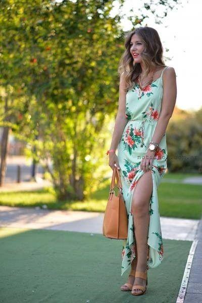 vestido largo de dia Afixis verano 2016