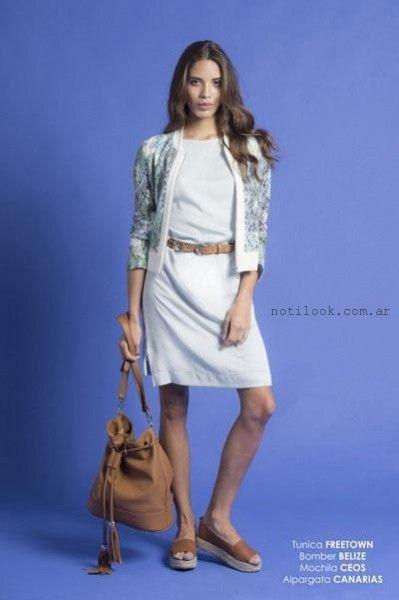 vestidos formales para oficcinas Teresa Calandra verano 2016