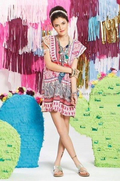 vestidos juveniles estampados de dia verano 2016 Combustion Love
