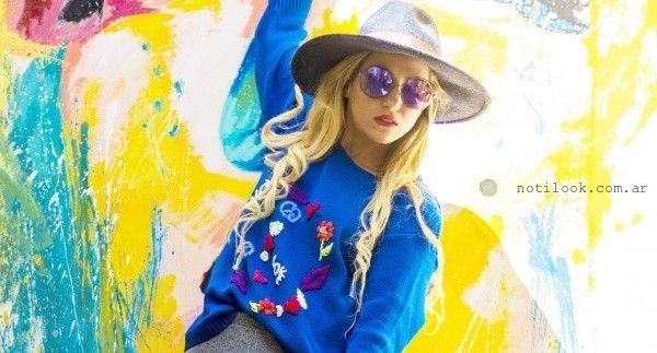 Linda Canaria sweater bordado verano 2016
