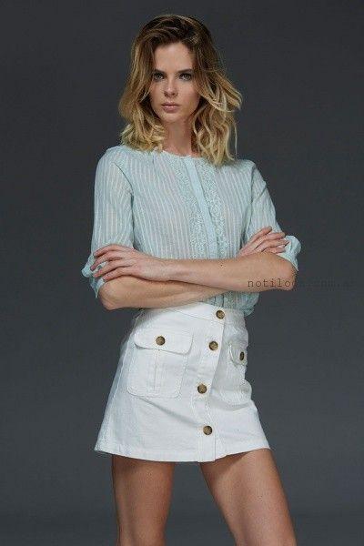 camisa con puntilla verano 2016 Nare