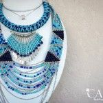 collar azul y turquesa verano 2016 Accesorios Carey