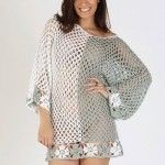 sweater a crochet verano 2016 Shales Tejidos