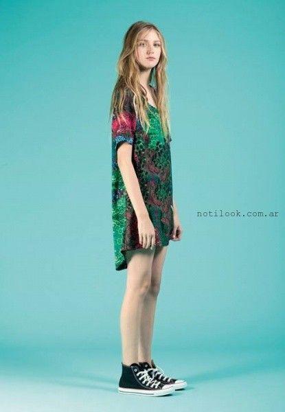 c413d540a vestido corto estampado informal Rie verano 2016 – Moda Mujer Argentina