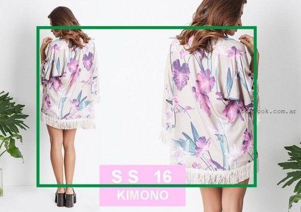 KIMONO estampa floral Activity pret a porter verano 2016
