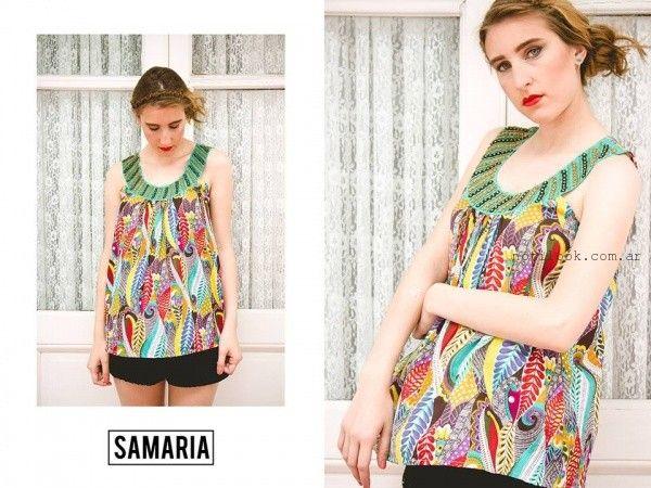 blusa con estampa selvatica verano 2016 samaria