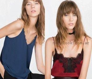 blusas Zara invierno 2016 - Estilo lencero