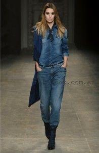 camisa denim y pantalon jeans invierno 2016