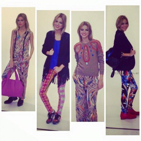 BENITO FERNANDEZ pantalones y calzas estampadas