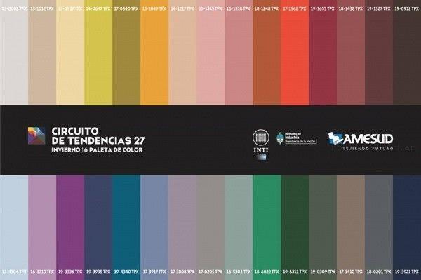 Colores otoño invierno 2016 Argentina - Circuito de tendencia