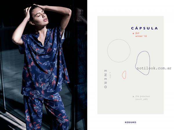 pantalon y blusa estilo japones Kosiuko otoño invierno 2016