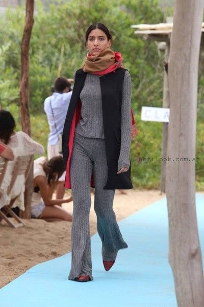 pantalones tejidos Clara Ibarguren otoño invierno 2016
