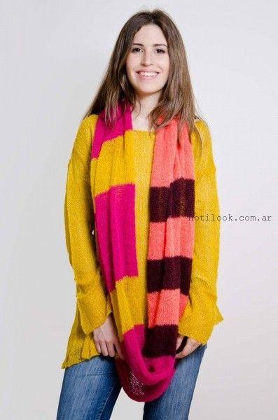 sweater de colores fuertes otoño invierno 2016 lares