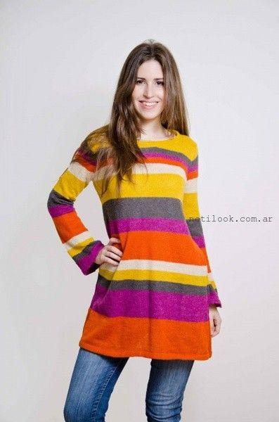 sweater largo lares tejidos otoño invierno 2016