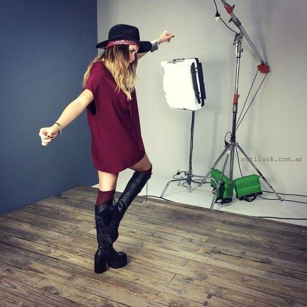 vestido corto holgado invierno 2016 47 street