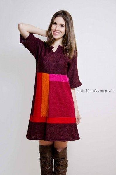 vestidos de hilo lares tejidos otoño invierno 2016