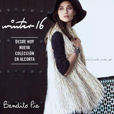 Chaleco piel sintetica Bendito Pie - Coleccion otoño invierno 2016