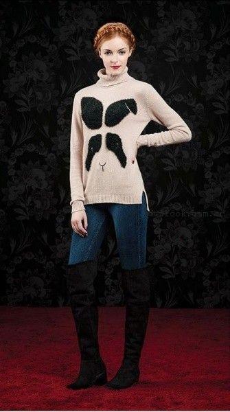 Las Oreiro - Jeans chupin y sweater crudo  invierno 2016