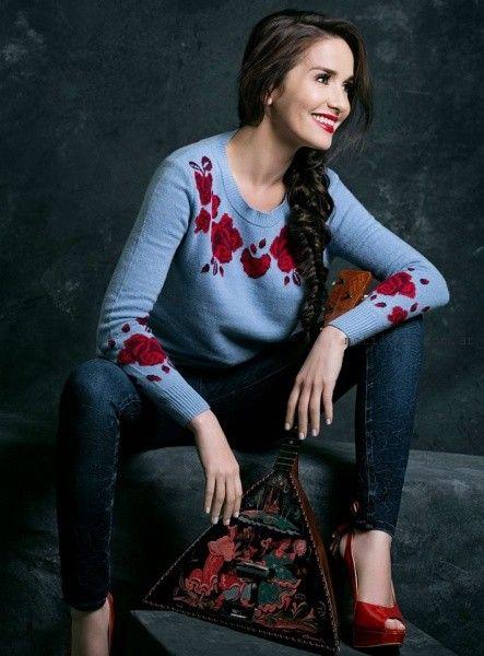 Las Oreiro - Jeans chupin y sweater invierno 2016
