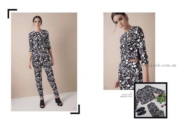 Silenzio - Pantalones de moda invierno 2016 -  babucha estampada