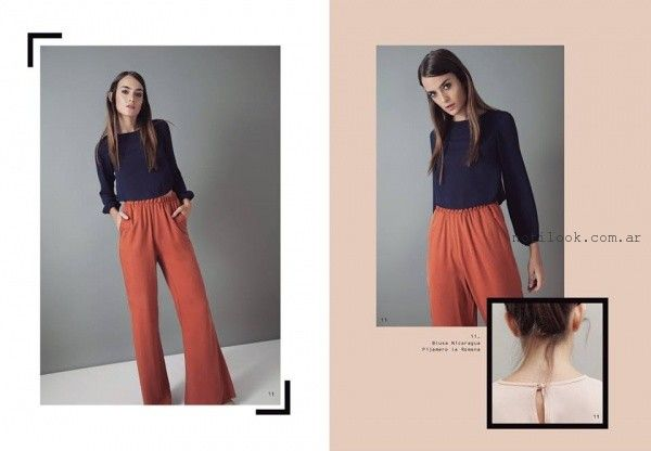 Silenzio - Pantalones de moda invierno 2016 - palazzos lisos