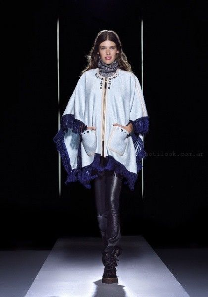 abrigo estilo poncho Jazmin chebar otoño invierno 2016
