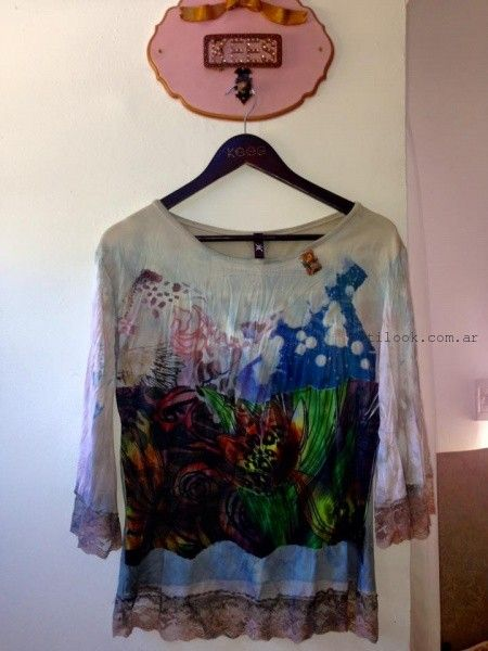blusas estampadas kees von kees otoño invierno 2016
