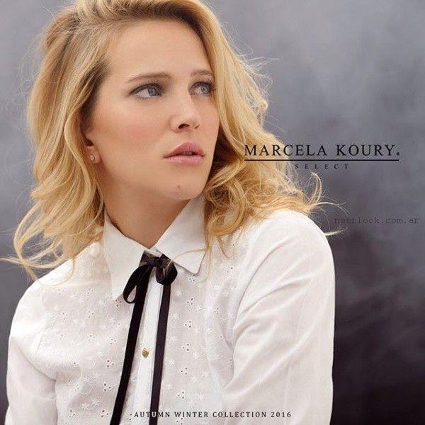 camisa con moño  invierno 2016 Marcela koury select