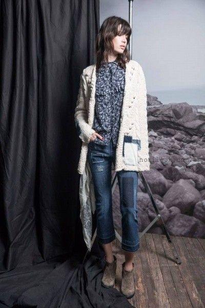 camisa estampada con jeans  Wanama invierno 2016