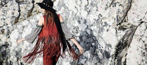 chaleco con flecos invierno 2016 - TUCCI