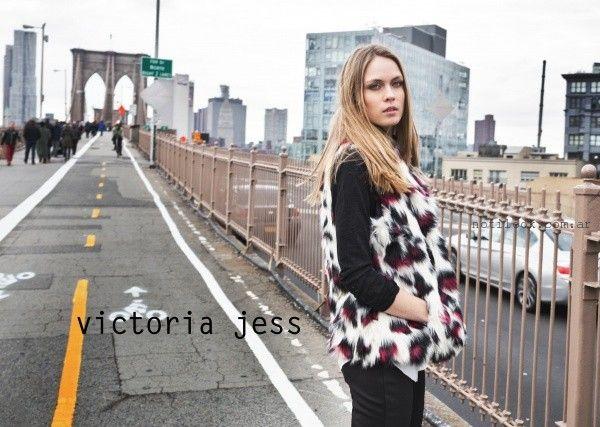 chaleco piel sintetica  - Victoria Jess invierno 2016