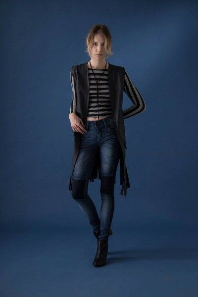 jeans con parches Uvha otoño invierno 2016