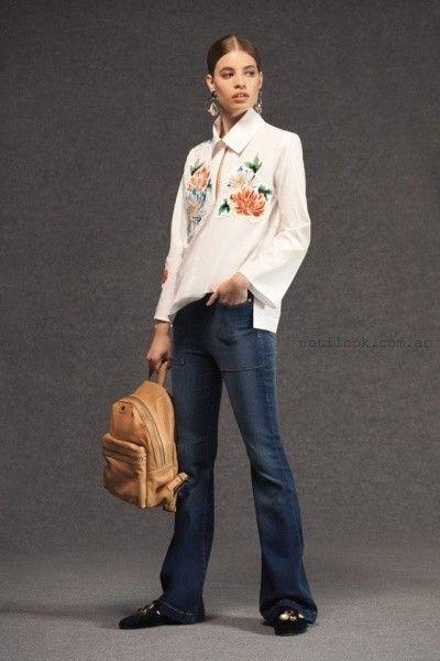 74fab9cfc48d3 vestido mangas largas estilo sastreria Maria Cher otoño invierno 2016.  jeans oxford Maria Cher otoño invierno 2016