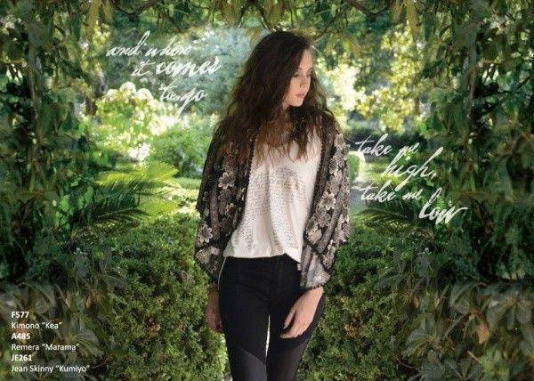 kimono estampa Rimmel otoño invierno 2016