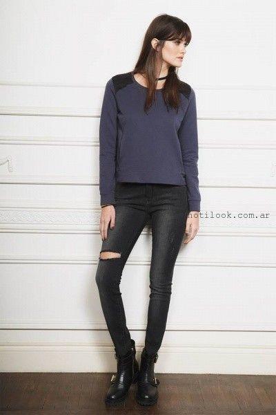 outfit con jean con roturas Ayres otoño invierno 2016