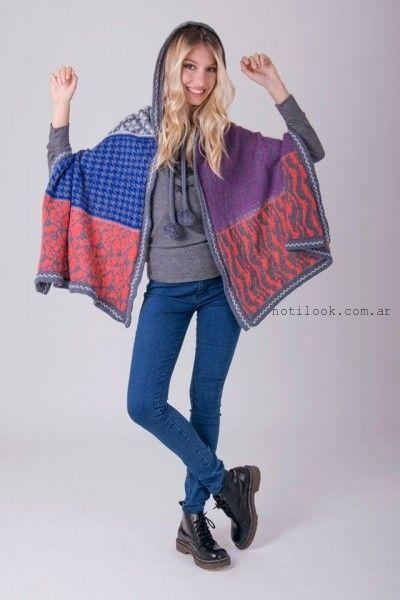 poncho con capucha enriquiana otoño invierno 2016