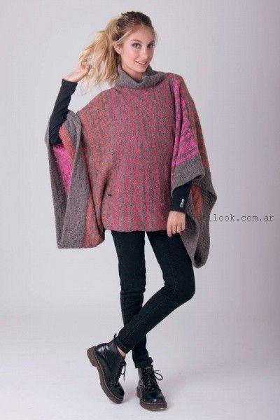 poncho tejido enriquiana otoño invierno 2016